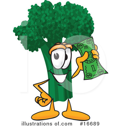 Broccoli Character Clipart #16689 by Toons4Biz