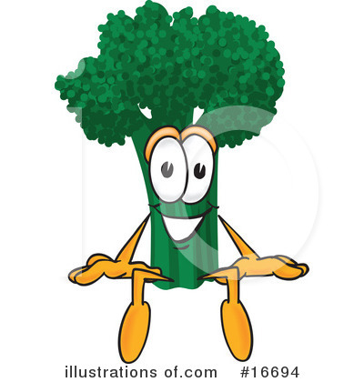 Broccoli Character Clipart #16694 by Toons4Biz