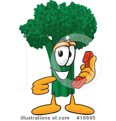 Broccoli Character Clipart #16695 by Toons4Biz