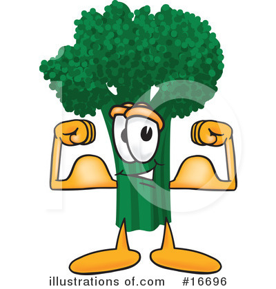 Broccoli Character Clipart #16696 by Toons4Biz