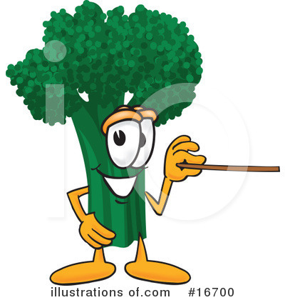 Broccoli Character Clipart #16700 by Toons4Biz