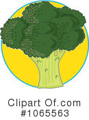 Royalty-Free (RF) Broccoli Clipart Illustration #1065563