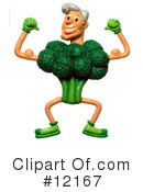Royalty-Free (RF) Broccoli Clipart Illustration #12167