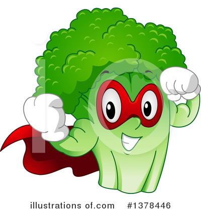 Royalty-Free (RF) Broccoli Clipart Illustration by BNP Design Studio - Stock Sample #1378446