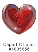 Royalty-Free (RF) broken heart Clipart Illustration #1095856