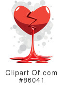 Royalty-Free (RF) broken heart Clipart Illustration #86041