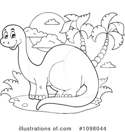 Royalty-Free (RF) Brontosaurus Clipart Illustration by visekart - Stock Sample #1098044
