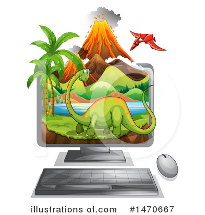Volcano Clipart #1470667 by Graphics RF