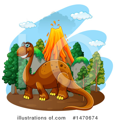 Royalty-Free (RF) Brontosaurus Clipart Illustration by Graphics RF - Stock Sample #1470674