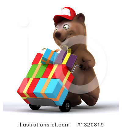 Royalty-Free (RF) Brown Bear Clipart Illustration by Julos - Stock Sample #1320819