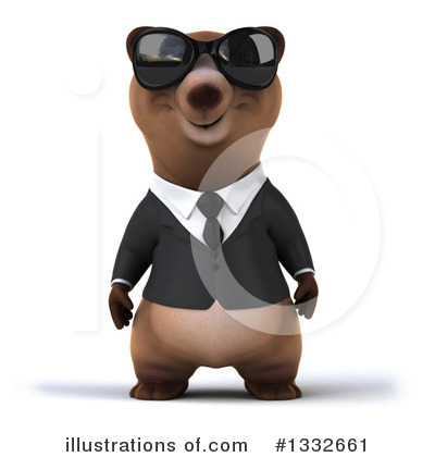 Brown Bear Clipart #1332661 by Julos