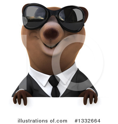 Brown Business Bear Clipart #1332664 by Julos