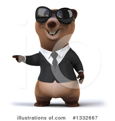 Brown Business Bear Clipart #1332667 by Julos