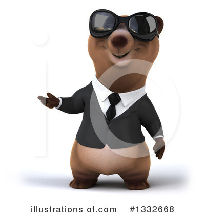 Brown Business Bear Clipart #1332668 by Julos