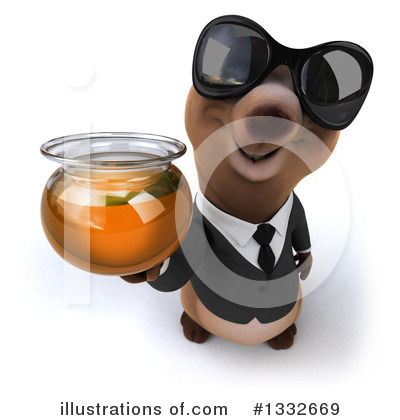 Brown Business Bear Clipart #1332669 by Julos