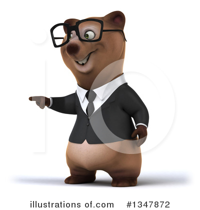 Brown Business Bear Clipart #1347872 by Julos