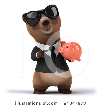 Brown Business Bear Clipart #1347873 by Julos