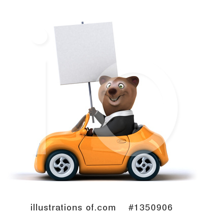 Brown Business Bear Clipart #1350906 by Julos