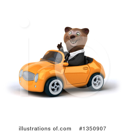 Brown Business Bear Clipart #1350907 by Julos