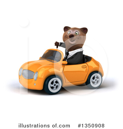 Brown Business Bear Clipart #1350908 by Julos