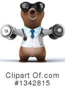 Brown Bear Doctor Clipart #1342815 by Julos