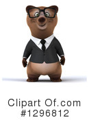Brown Business Bear Clipart #1296812 by Julos