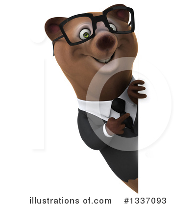 Brown Business Bear Clipart #1337093 by Julos