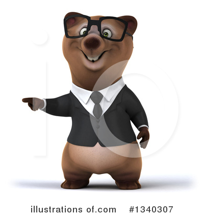 Brown Business Bear Clipart #1340307 by Julos
