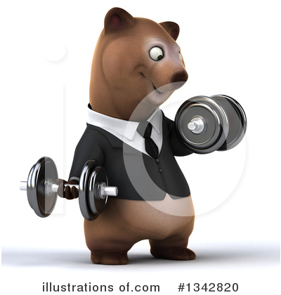 Brown Business Bear Clipart #1342820 by Julos
