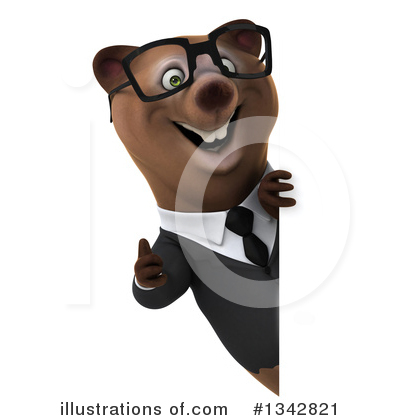 Brown Business Bear Clipart #1342821 by Julos