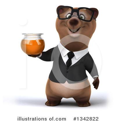 Brown Business Bear Clipart #1342822 by Julos