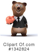 Brown Business Bear Clipart #1342824 by Julos