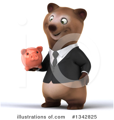 Brown Business Bear Clipart #1342825 by Julos