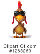 Brown Chicken Clipart #1268269
