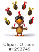 Brown Chicken Clipart #1293749 by Julos