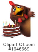 Brown Chicken Clipart #1646669 by Julos