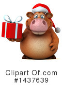 Brown Christmas Cow Clipart #1437639