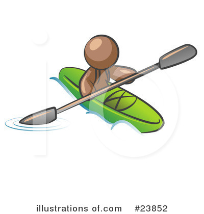 Kayaking Clipart #23852 by Leo Blanchette