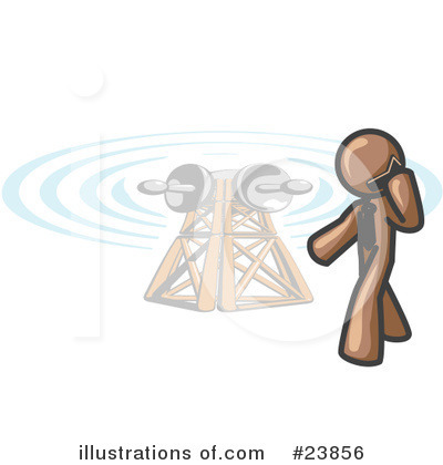 Communications Tower Clipart #23856 by Leo Blanchette