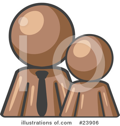 Royalty-Free (RF) Brown Collection Clipart Illustration by Leo Blanchette - Stock Sample #23906