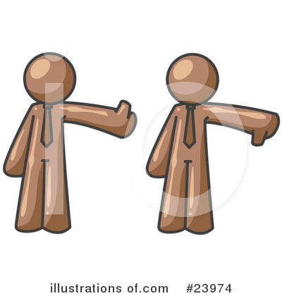 Thumbs Down Clipart #23974 by Leo Blanchette