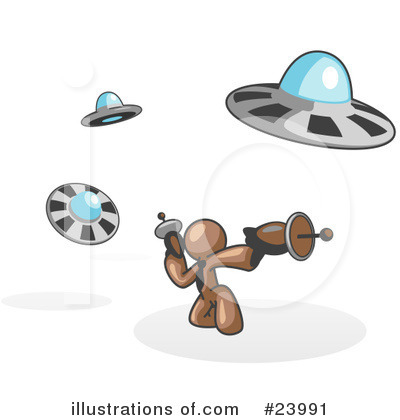Alien Clipart #23991 by Leo Blanchette