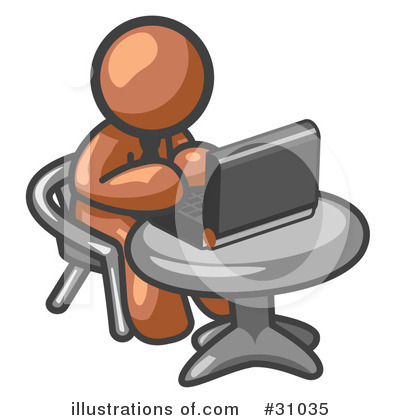 Royalty-Free (RF) Brown Collection Clipart Illustration by Leo Blanchette - Stock Sample #31035