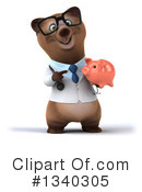 Brown Doctor Bear Clipart #1340305 by Julos