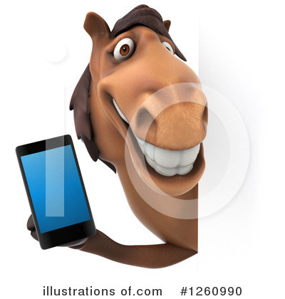 Royalty-Free (RF) Brown Horse Clipart Illustration by Julos - Stock Sample #1260990