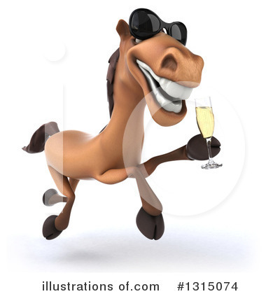 Royalty-Free (RF) Brown Horse Clipart Illustration by Julos - Stock Sample #1315074