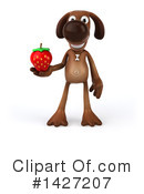 Brown Pooch Character Clipart #1427207 by Julos