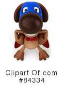 Brown Pooch Character Clipart #84334 by Julos