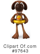 Royalty-Free (RF) brown pooch character Clipart Illustration #97643