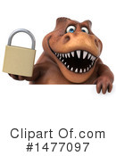 Brown Trex Clipart #1477097 by Julos